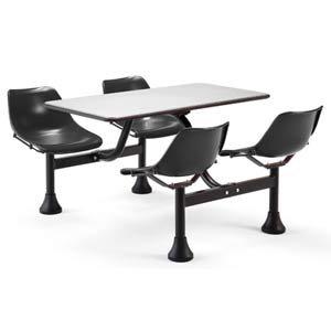 Group/Cluster Black Table and Chairs