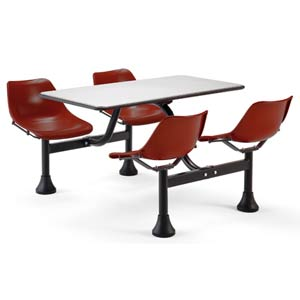 Group/Cluster Burgundy Table and Chairs