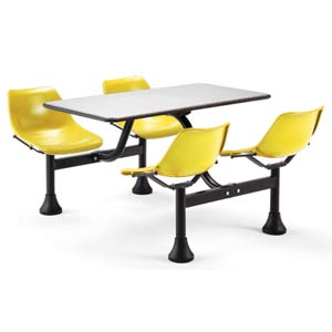 Group/Cluster Yellow Table and Chairs