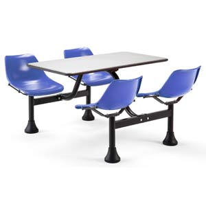 Large Group/Cluster Blue Table and Chairs