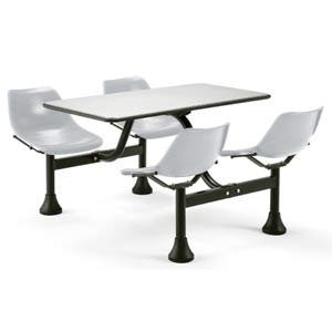 Large Group/Cluster Stainless Steel Table and Chairs