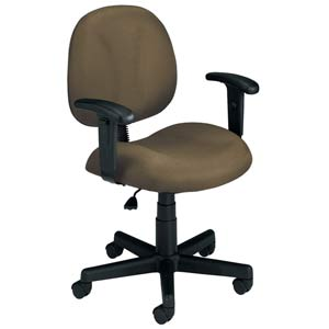 Taupe Fabric Computer Superchair with Arms
