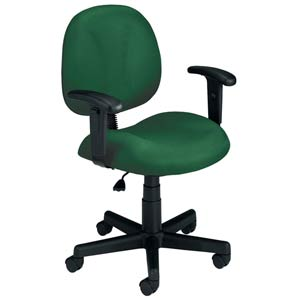 Green Fabric Computer Superchair with Arms