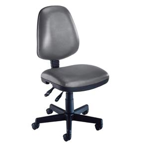 Charcoal Vinyl Computer Posture Chair
