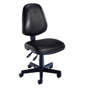 Black Vinyl Computer Posture Chair