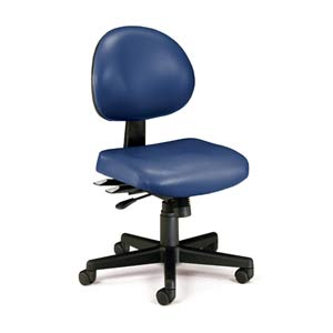 Navy Vinyl 24 Hour Task Chair