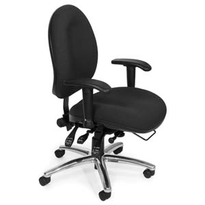 24 Hour Big and Charcoal Computer Task Chair with Hi-Back