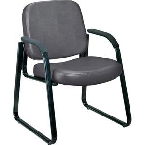 Charcoal Vinyl Reception Chair
