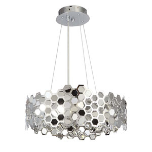 Lexington Ave. Chrome Twelve-Light Chandelier, 10 lbs