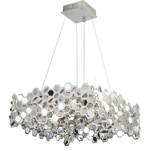 Lexington Ave. Chrome Twelve-Light Chandelier, 14 lbs