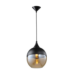 Robertson Blvd. Black One-Light Globe Pendant