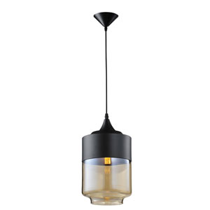 Robertson Blvd. Black 13-Inch One-Light Pendant