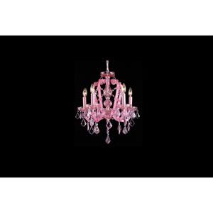 Sunset Pl. Pink Crystal Five-Light Mini Chandelier
