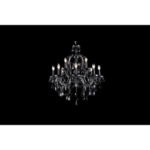 Onyx Ln. Black Crystal Twelve-Light Chandelier