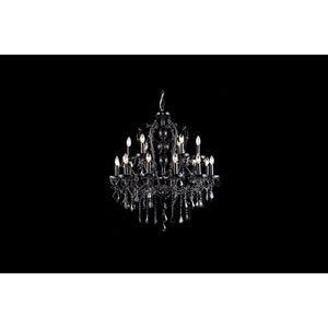 Onyx Ln. Black Crystal 18-Light Chandelier