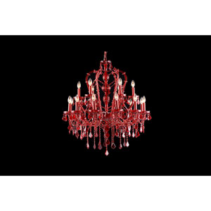Crimson Blvd. Red Crystal 18-Light Chandelier