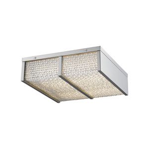 Cermack St. Brushed Nickel 17-Inch LED Flush Mount