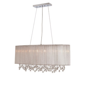 Beverly Dr. Silver Six-Light Chandelier