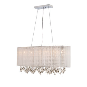 Beverly Dr. White Six-Light Chandelier