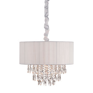 Vineland Ave. White Six-Light Chandelier