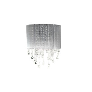 Beverly Dr. Silver Two-Light Wall Sconce