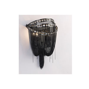 Wilshire Blvd. Black Chrome Two-Light Wall Sconce
