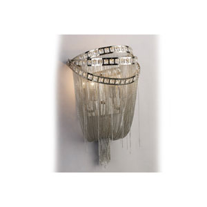 Wilshire Blvd. Polished Nickel Two-Light Wall Sconce