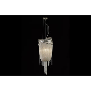 Wilshire Blvd. Polished Nickel Four-Light Chandelier