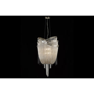 Wilshire Blvd. Polished Nickel Six-Light Chandelier