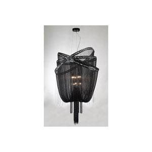 Wilshire Blvd. Black Chrome Nine-Light Chandelier