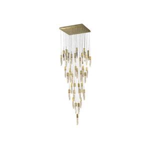 Aspen Brushed Brass 36-Inch LED Flush Mount
