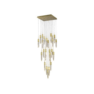 Aspen Brushed Brass 28-Inch LED Flush Mount