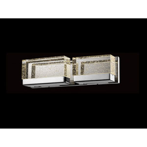 Glacier Avenue Polished Nickel 18-Inch LED Bath Bar