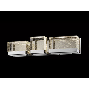 Glacier Avenue Polished Nickel 24-Inch LED Bath Bar