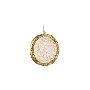 Bottega Polished Brass 10-Inch LED Mini Pendant