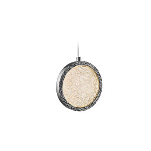 Bottega Polished Nickel 10-Inch LED Mini Pendant