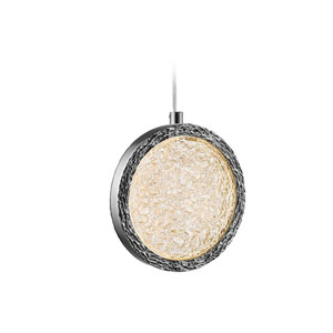 Bottega Polished Nickel 13-Inch LED Pendant