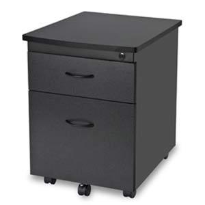Graphite Mobile Vertical File Cabinet