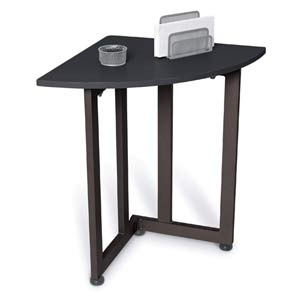 Graphite Corner Table