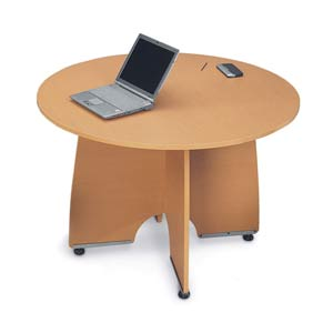 Graphite 43-Inch Round Conference Table