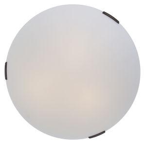 Orinoco Mocha ADA Three-Light Flushmount