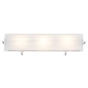 Zurich Satin Nickel and Stainless Steel ADA Three-Light Bath Vanity
