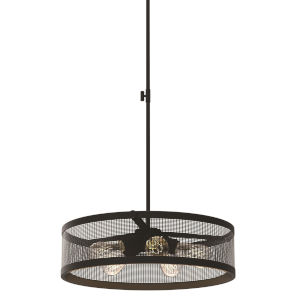Gastown Graphite and Nickel 20-Inch Five-Light Pendant