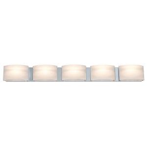Vanguard Satin Nickel ADA Five-Light Bath Vanity