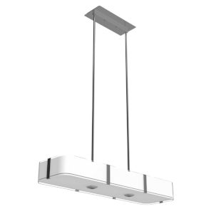 Kii Satin Nickel and Stainless Steel Six-Light Pendant