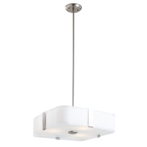 Kii Satin Nickel and Stainless Steel Three-Light Pendant