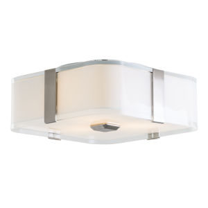 Kii Satin Nickel and Stainless Steel ADA Three-Light Flushmount