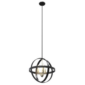 Compass Graphite Three-Light Orbit Pendant