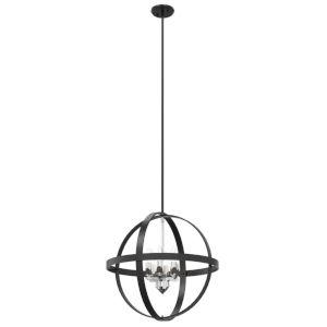 Compass Graphite and Chrome Six-Light Pendant