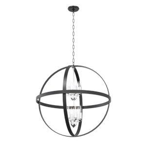 Compass Graphite and Chrome 12-Light Pendant